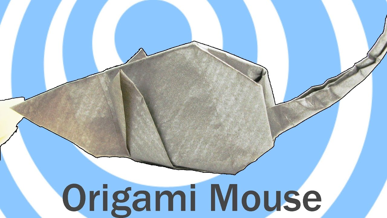 Origami mouse instructions - YouTube - photo#49