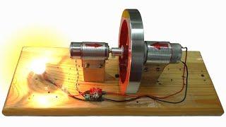 🌑 ВЕЧНЫЙ ДВИГАТЕЛЬ из двух моторчиков How to make a Free Energy Generator Игорь Белецкий