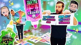 GIGANTISCHES SLIME BRETTSPIEL Challenge! Kaan + Kathi müssen Boardgame meistern um Schleim zu machen