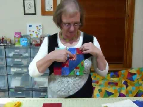 How to make a Jewel Box block using five inch squares - Quilting Tips & Techniques 082