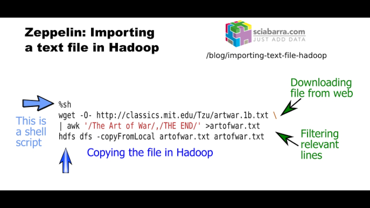 Zeppelin: importing a text file in Hadoop