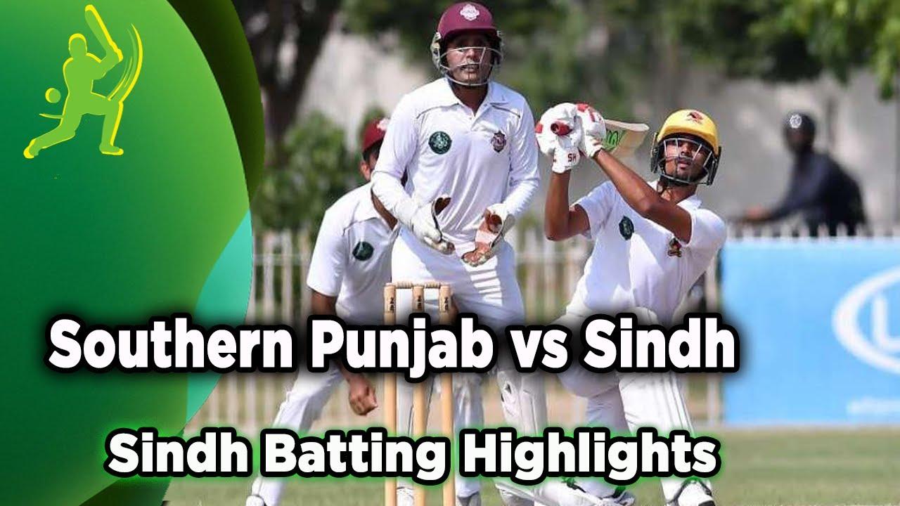 Sindh Batting Highlights | Southern Punjab vs Sindh | Quaid e Azam Trophy