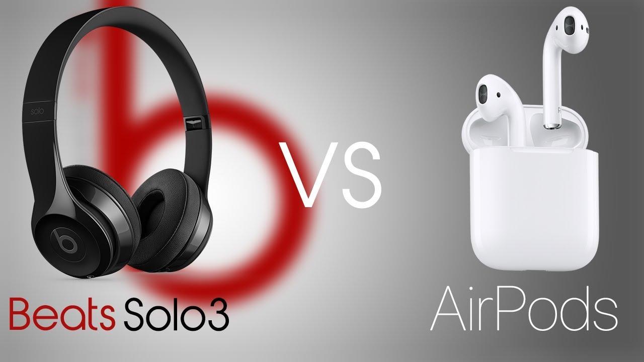 AirPods VS Beats Solo3 Comparison! - YouTube