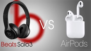 AirPods VS Beats Solo3 Comparison!