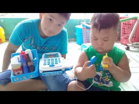 Đồ chơi trẻ em bé pin máy tính tiền siêu thị ❤ PinPin TV ❤ Baby toys money supermarket
