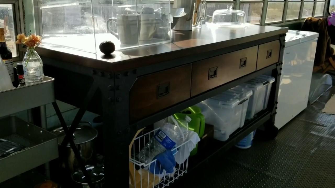 School Bus Conversion Kitchen Tour   Off Grid Living