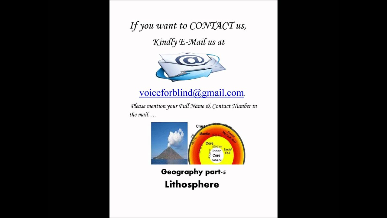 Geography; Amazing Facts About Lithosphere (By Anita ...