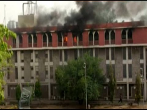 Fire engulfs income tax office at Jaipur