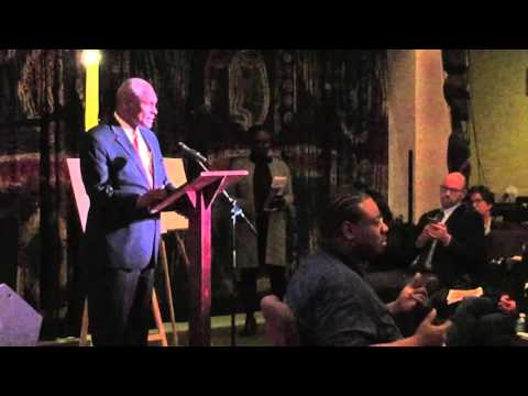 Keith Wright speaks at the Homelessness in Harlem forum at the National Black Theater