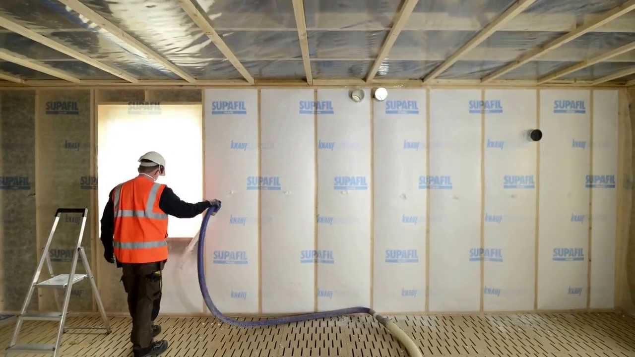Knauf Insulation - Seinärakenteiden eristäminen puhallusvillalla