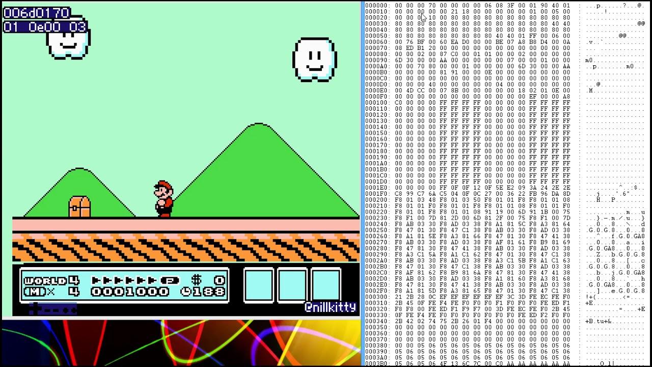 Live hex editing: Super Mario Bros 3