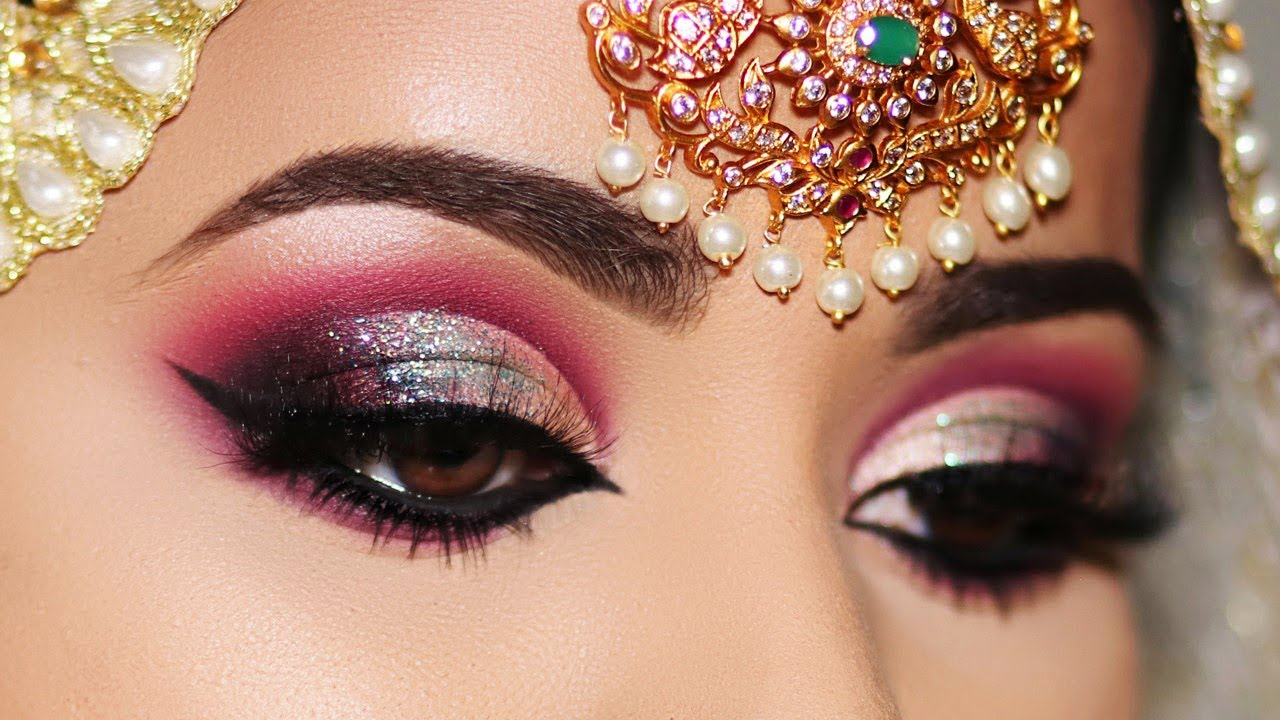 How To Indian Asian Bridal Eye Makeup Transformation Step By Step Tutorial Youtube