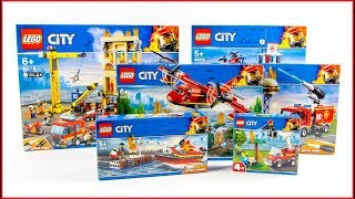 COMPILATION LEGO CITY All Fire Brigade 2019 sets Speed Build for Collectors