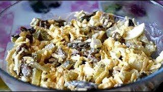 Салат с сыром и сухариками //Вкусно// Быстро// Сытно//