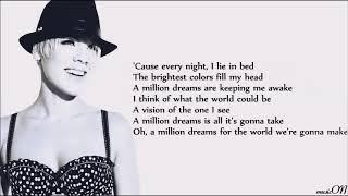 P!nk - A Million Dreams [Lyrics] [The Greatest Showman Reimagined] Video