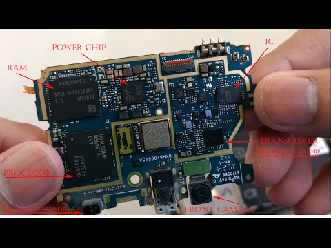 Check what's inside a smartphone with all its components breaked open and identified.