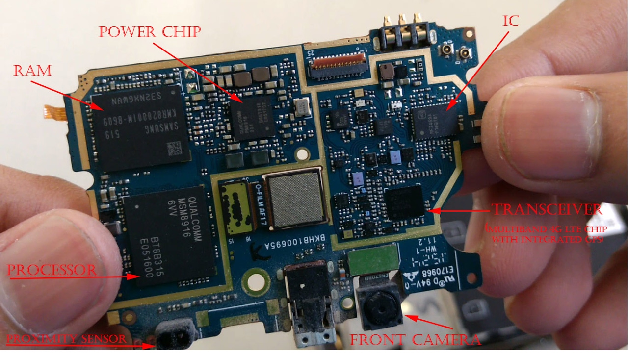 Check Whats Inside A Smartphone With All Its Components Breaked Circuit Board List Open And Identified