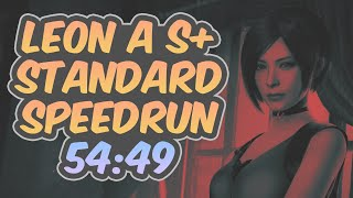 Resident Evil 2 Remake - Leon A Speedrun - 54:49 (World Record)