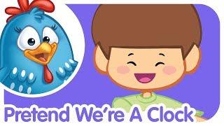 Pretend We're A Clock | Lottie Dottie Chicken UK | Nursery Rhymes For Kids