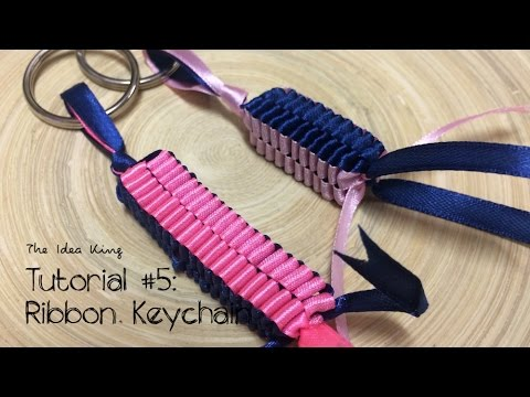 How To Make Ribbon Keychain Step By Step? | The Idea King Tutorial #5