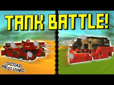 TANK BATTLE with SPUD GUNS!  - Scrap Mechanic Multiplayer Monday! Ep 91
