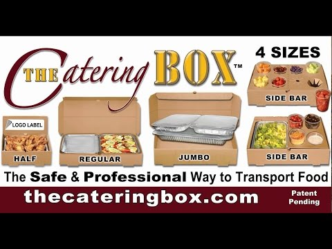 The Catering Box - SERVE FOOD RIGHT OUT OF THE BOX