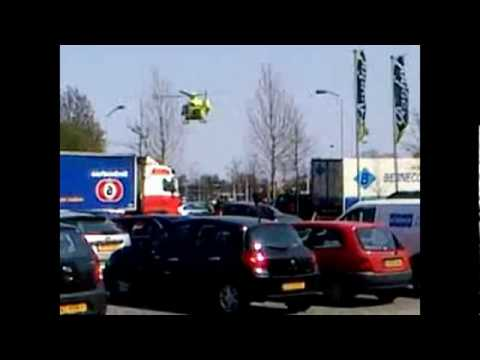 Traumahelicopter woonboulevard Breda