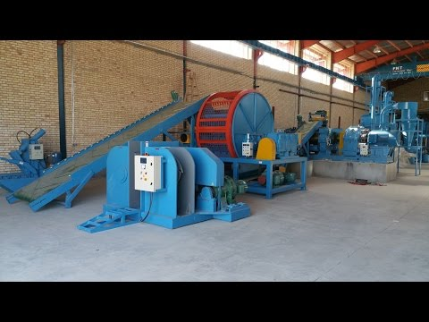 Complete Tire recycling rubber powder plant PLC