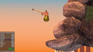 Getting Over It With Bennett Foddy - 1m 53.438s Speedrun