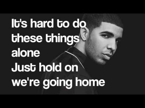 Piano Karaoke/Instrumental - Hold On We're Going Home - Drake with lyrics