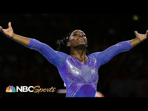 Simone Biles crushes floor routine for 25th world championship medal | NBC Sports