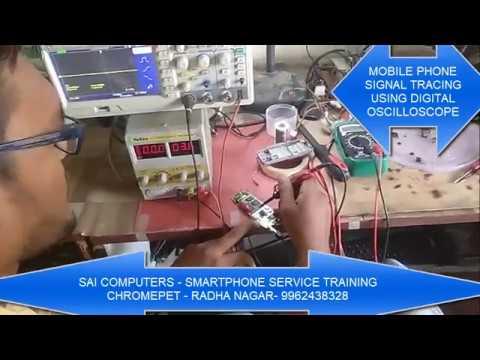MOBILE PHONE SIGNAL TRACING USING OSCILLOSCOPE