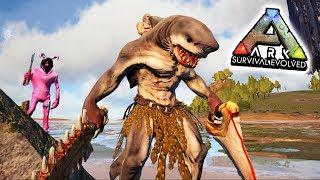 EL TAMEO IMPOSIBLE!! 😭 *TIBURÓN HUMANO* 😱 - MonsterLand #3 - ARK: Survival Evolved