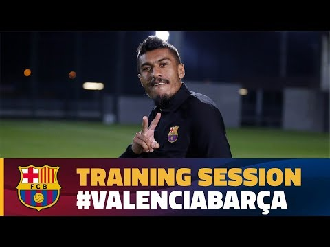 Last training session before the trip to Valencia