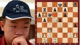Amazing Chess Game: Wei Yi vs Anne Haast - a young chinese Mikhail Tal ?! - Tata Steel B (2015)