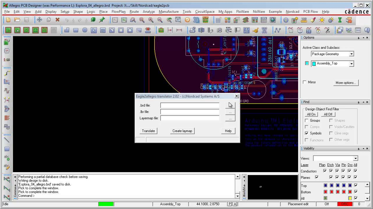 Eagle to OrCAD and Allegro PCB Editor translator - YouTube