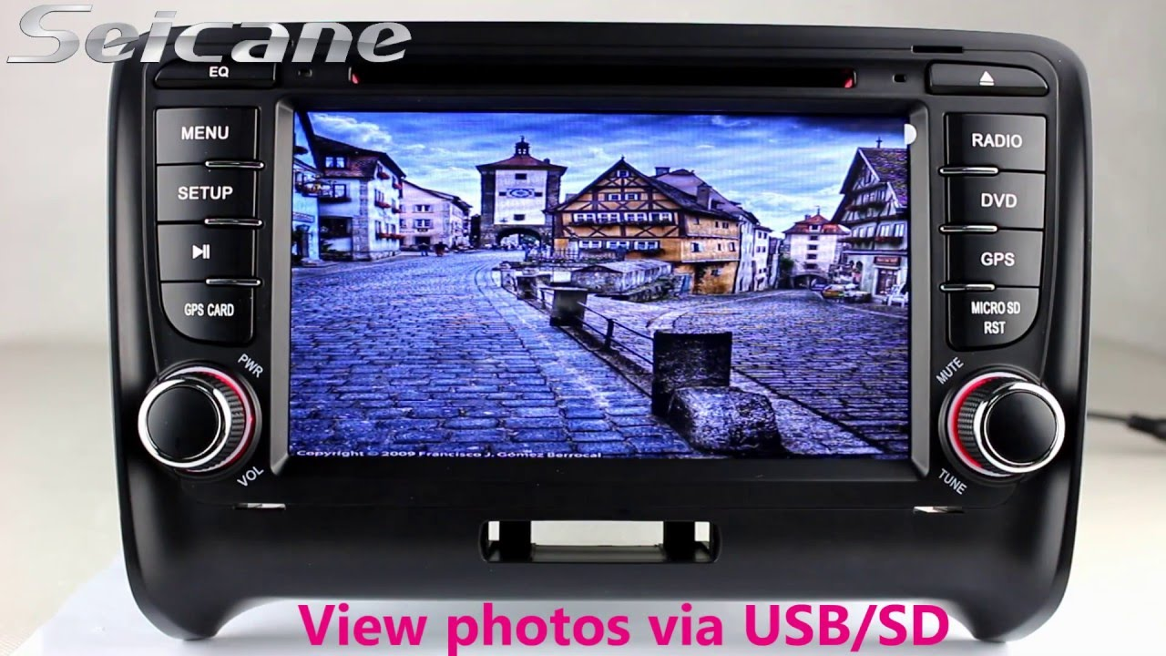 2006 2014 audi tt mk2 bluetooth dvd auto a v dvd gps with radio cd player 1080p video 32g youtube. Black Bedroom Furniture Sets. Home Design Ideas