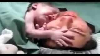 Recém-nascido não quer desgrudar da mãe