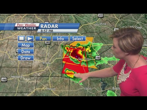 KXAN coverage of San Saba County reported tornado