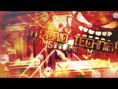 Geometry Dash Insane Demon | Hyperio Technia ALL 3 COINS (ML500)