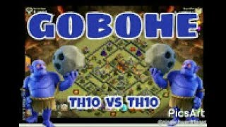 GOBOHE GOLEM BOWLER HEILER CK/CW RH10/TH10 vs. TH10   3 Sterne   COC   Clash of Clans DEUTSCH/GERMAN