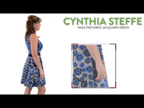Cynthia Steffe Inga Textured Jacquard Dress - Sleeveless (For Women)