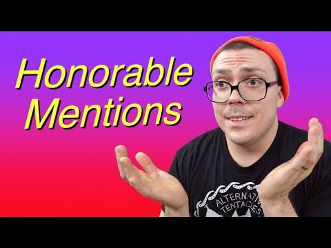 Honorable Mentions of 2018