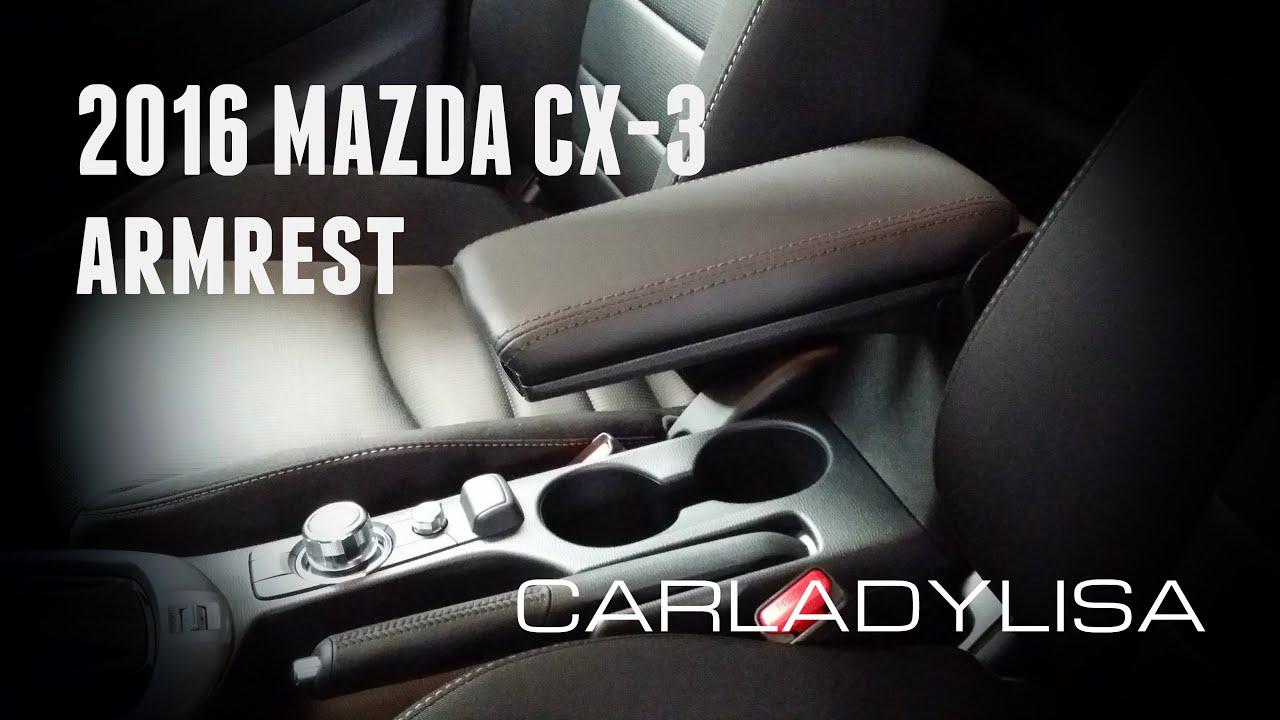 2016 mazda cx 3 armrest accessory youtube. Black Bedroom Furniture Sets. Home Design Ideas