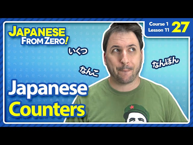 Japanese Counters - Japanese From Zero! Video 27