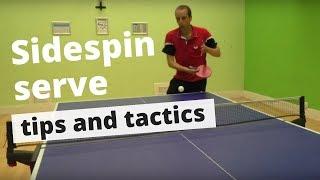 Sidespin (pendulum) serve - tips and tactics