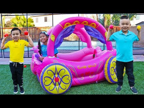 Wendy Pretend Play with Inflatable Princess Carriage Toy
