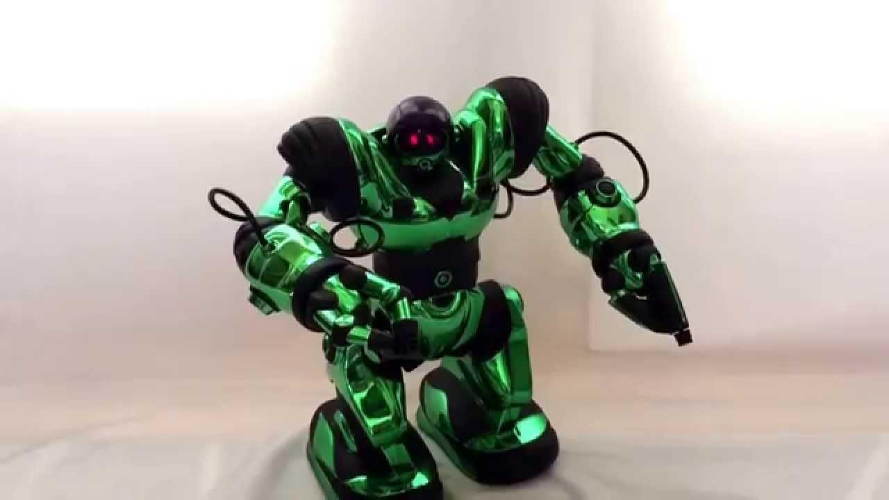Wowwee Robosapien Mettalic Green Humanoid Robot Toy W   Remote See Video