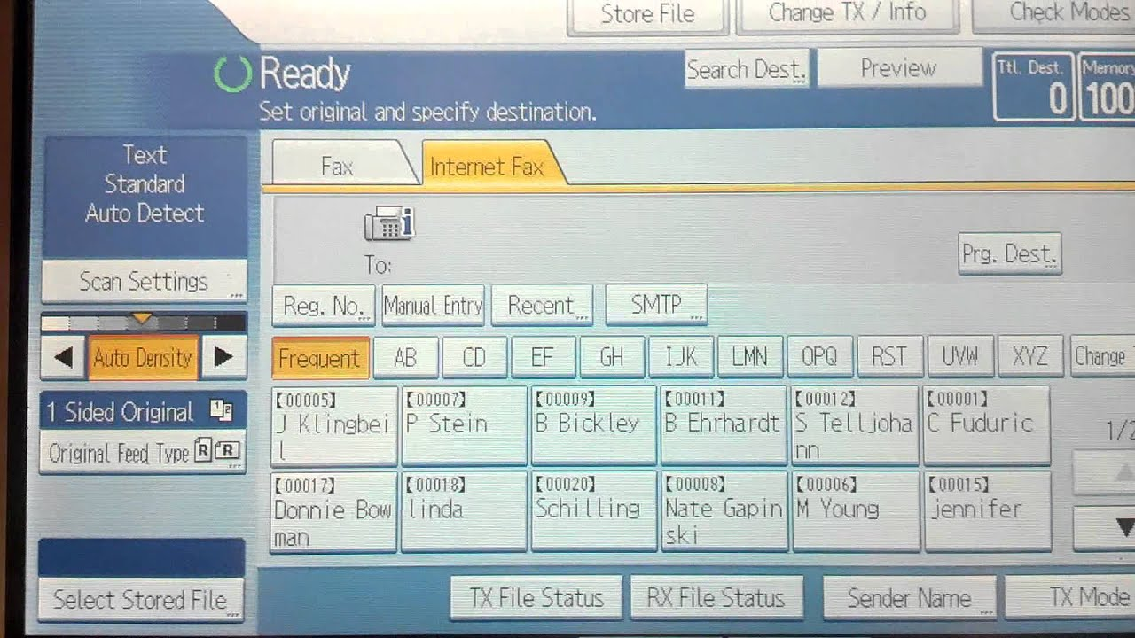 ricoh efax instructions youtube