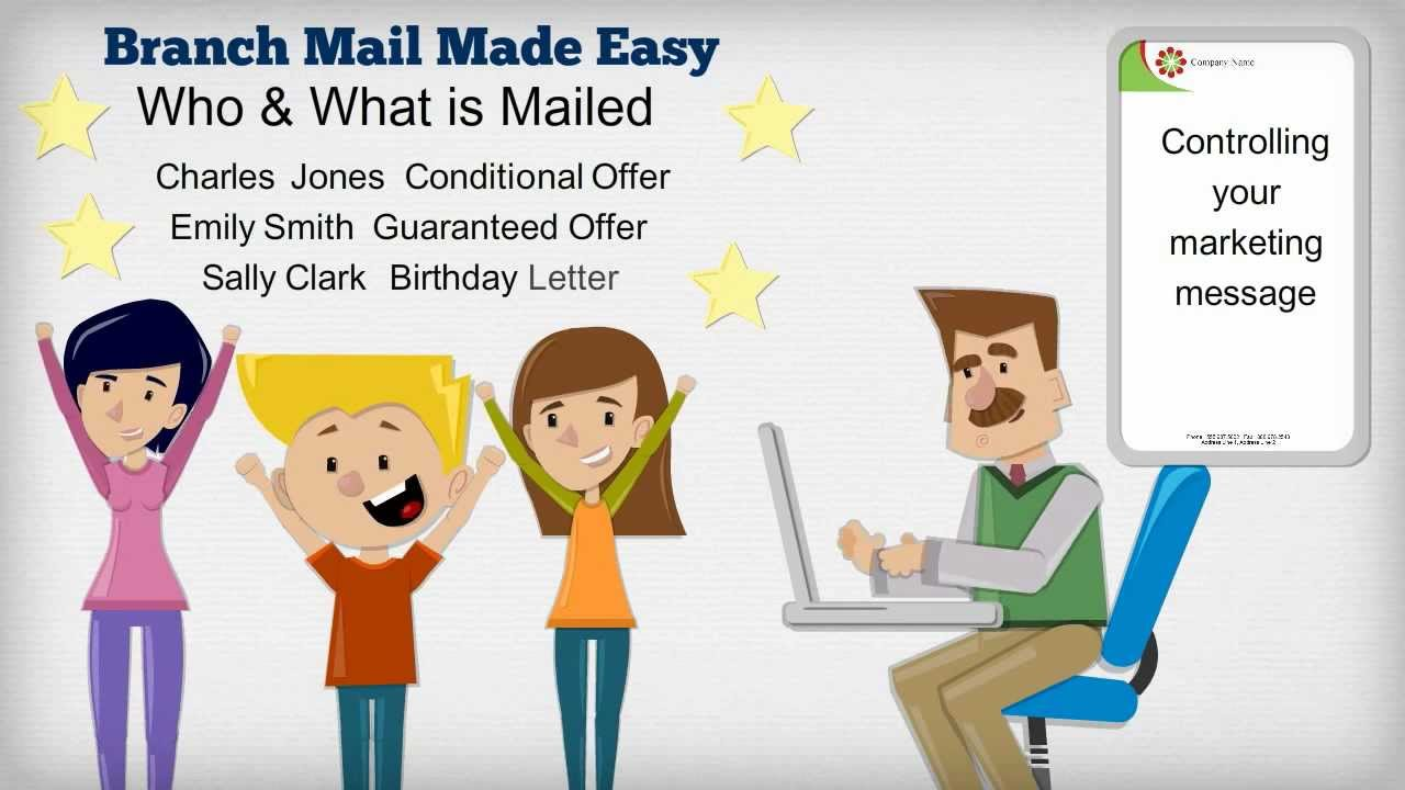 Branch Mail Made Easy - Online Mail Merge Tool - YouTube